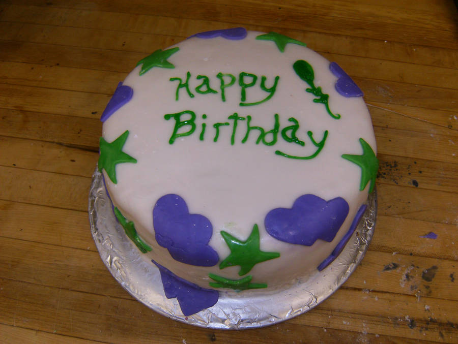 Simple Fondant Birthday Cake by Sweet-Inclinations