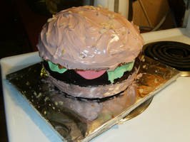 Mmm Burger Cake. . . by Sweet-Inclinations
