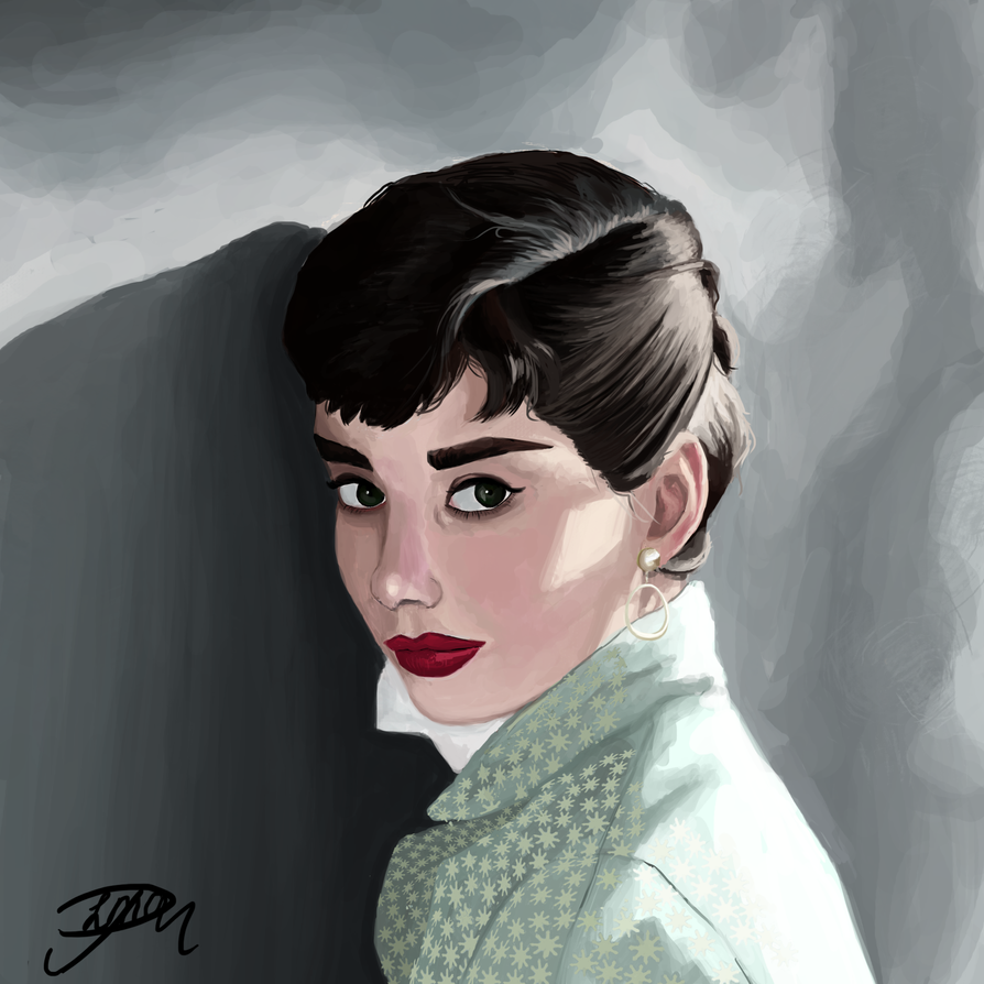 Portrait Hepburn by Livia-Anna
