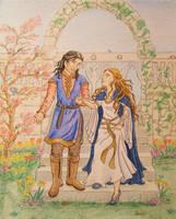 Faramir and Eowyn by palantiriel