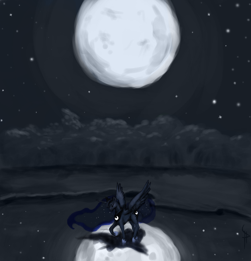 Luna's Lament by White-Pwny