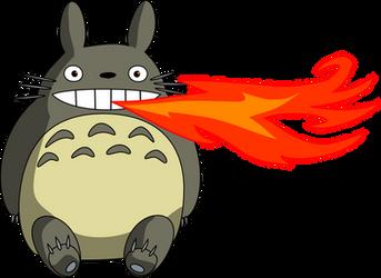 Fire Breathing Totoro by thinkaliker