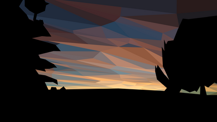 Low Poly Sunset by thinkaliker