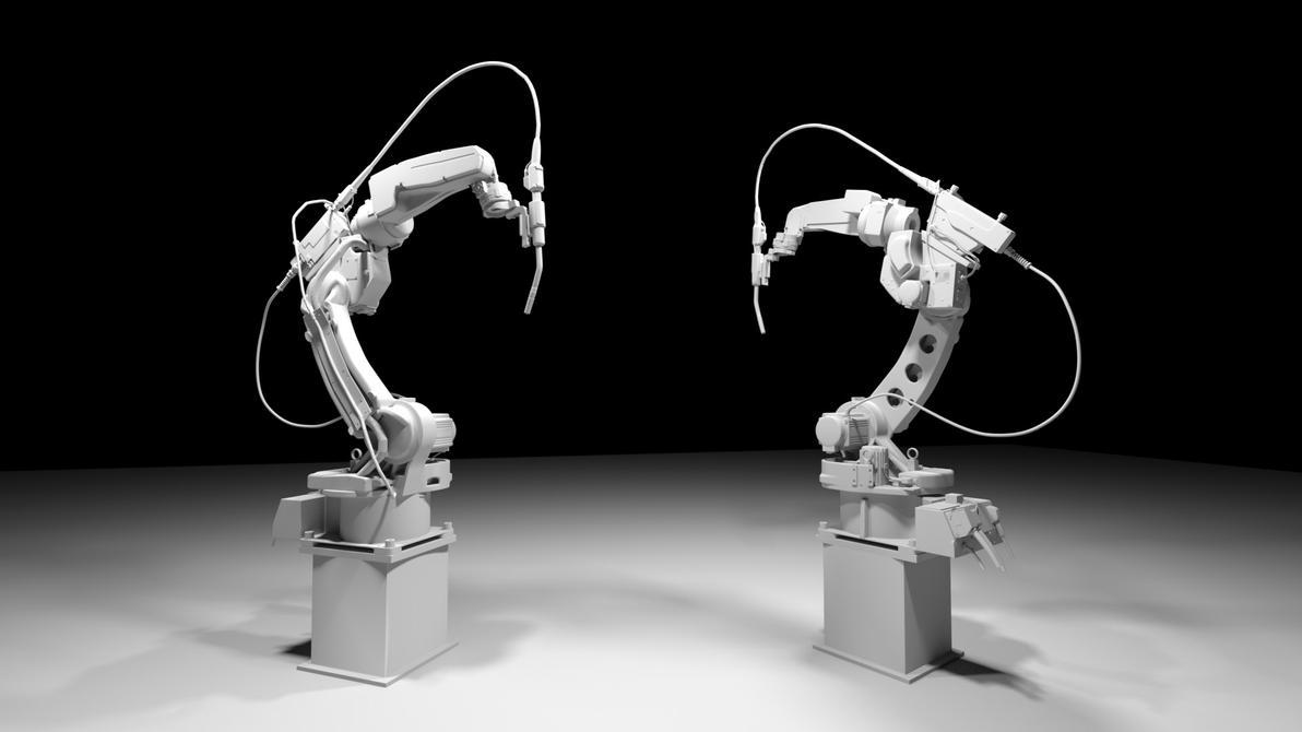 Panasonic TM-1400 Welding Robot (W.I.P) by JordanNVFX
