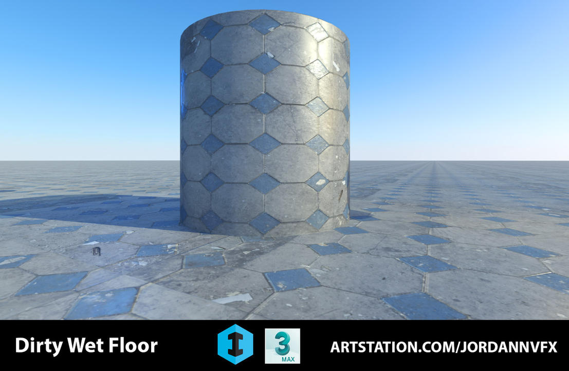 Dirty Wet Floor Material by JordanNVFX