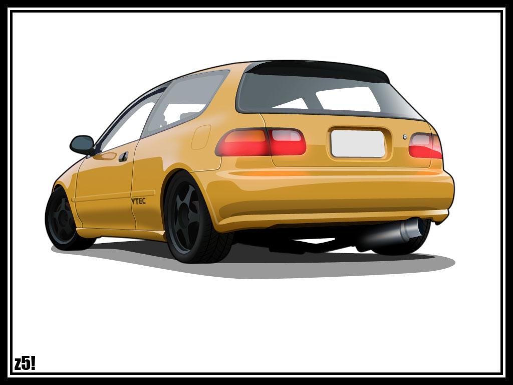 Honda civic hatchback by zeba5 on deviantart for Honda civic 2006 hatchback