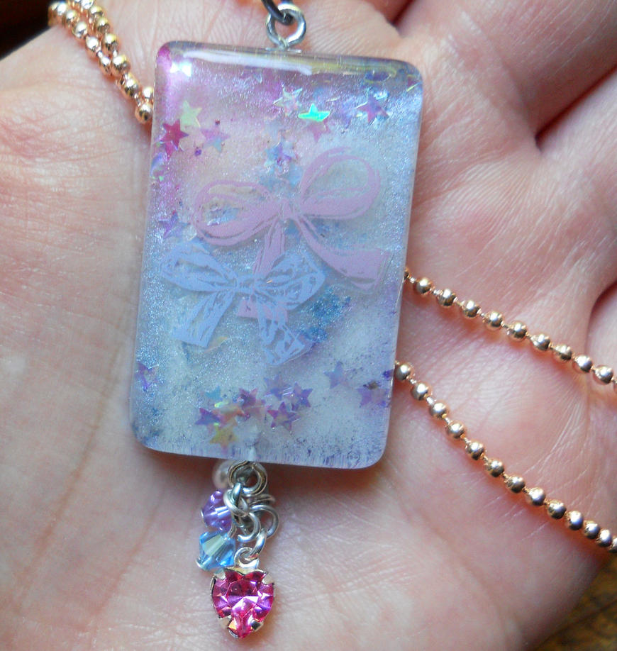 Pastel Bow Resin Charm by OdinsBeadHall