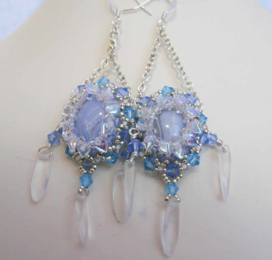 Frost Drake Earrings by OdinsBeadHall