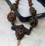 Triquetra Embroidery Necklace by OdinsBeadHall