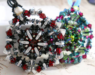 Vortex Gate Beaded Pendant (Tutorial in Link) by OdinsBeadHall