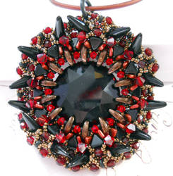 Demagogue's Beacon - Red, Bronze, and Black by OdinsBeadHall