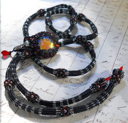 Death Toll Beaded Lariat by OdinsBeadHall