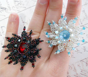 Netted Snowflake Ring (Tutorial in link)