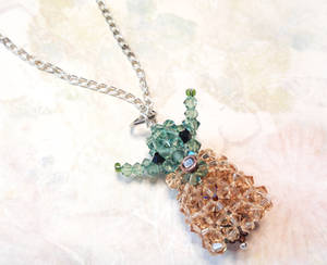 The Child Swarovski Crystal Beaded Pendant