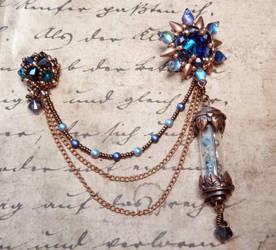 Remedy Asymmetrical Lapel Pin (Blue Vers.)