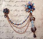 Remedy Asymmetrical Lapel Pin (Blue Vers.) by OdinsBeadHall