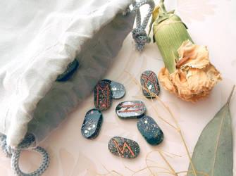 Earth Elemental Mini Rune Set by OdinsBeadHall