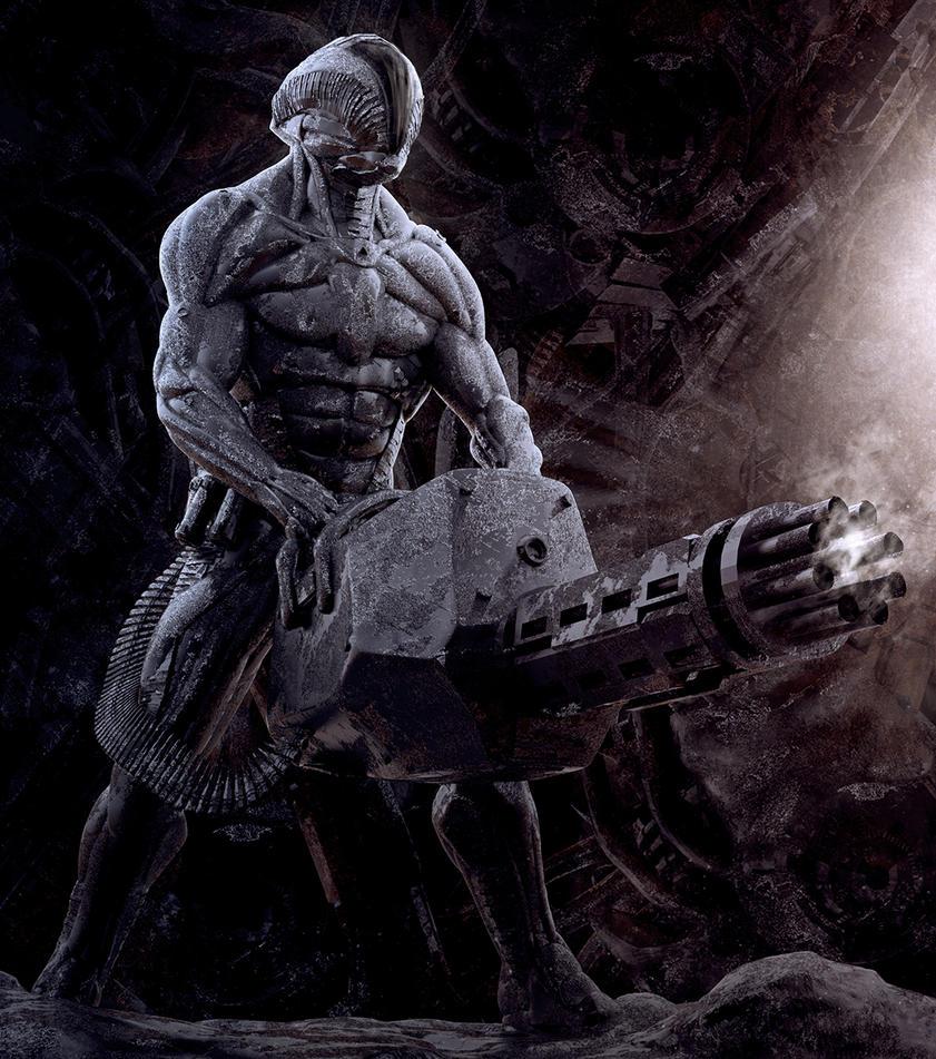 Heavy Gunner by sancient
