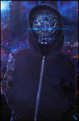 Robot hoodie by sancient