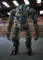 Juggernaut Mech Design warehouse by sancient