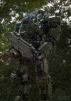 Juggernaut Mech Design Jungle by sancient