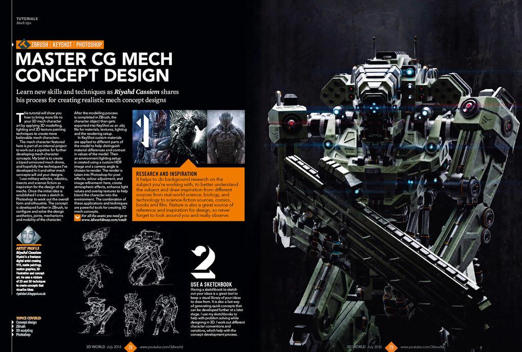 3d World Magazine July 2014 Mech Tutorial by sancient