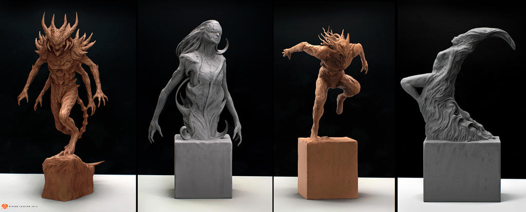 Concept Sculpts by sancient
