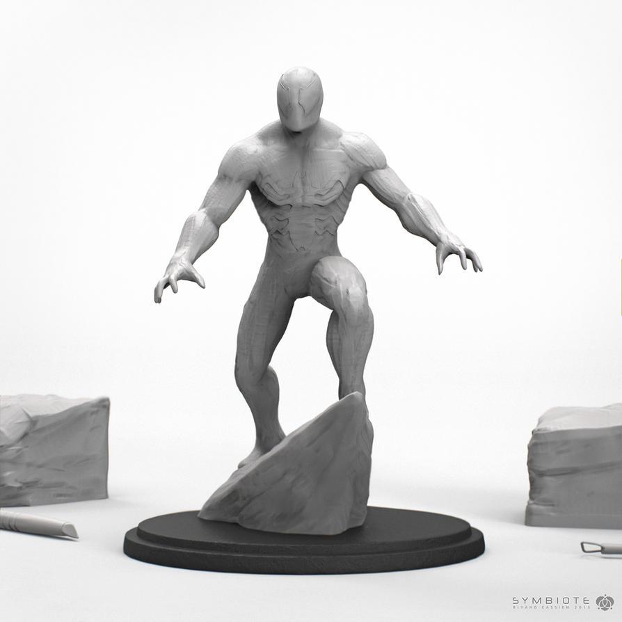 Spider Man Symbiote Suit Sculpt by sancient