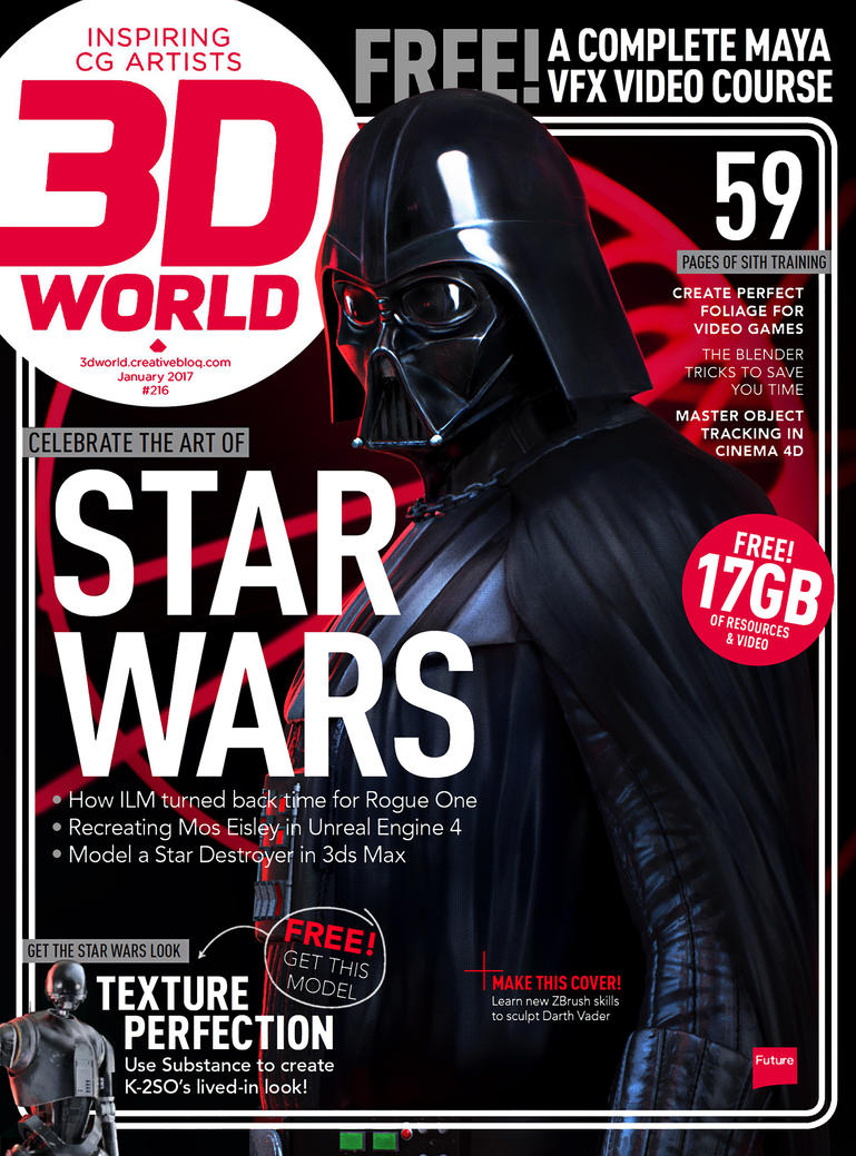 3d World Darth Vader Cover by sancient