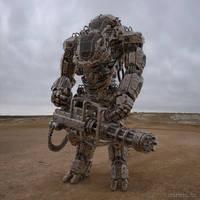 Juggernaut Mech by sancient