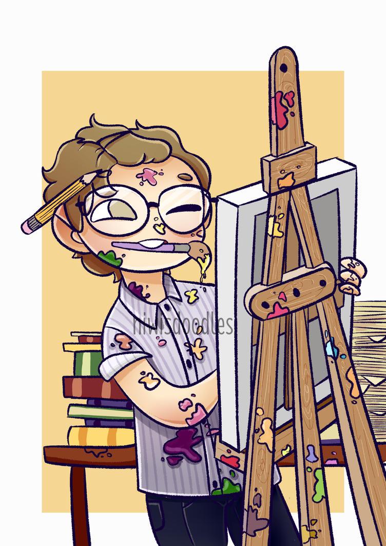 Ashton Irwin + Art Student by Amnesia5sos
