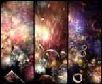 Universe Triptych by MadameLuciferi