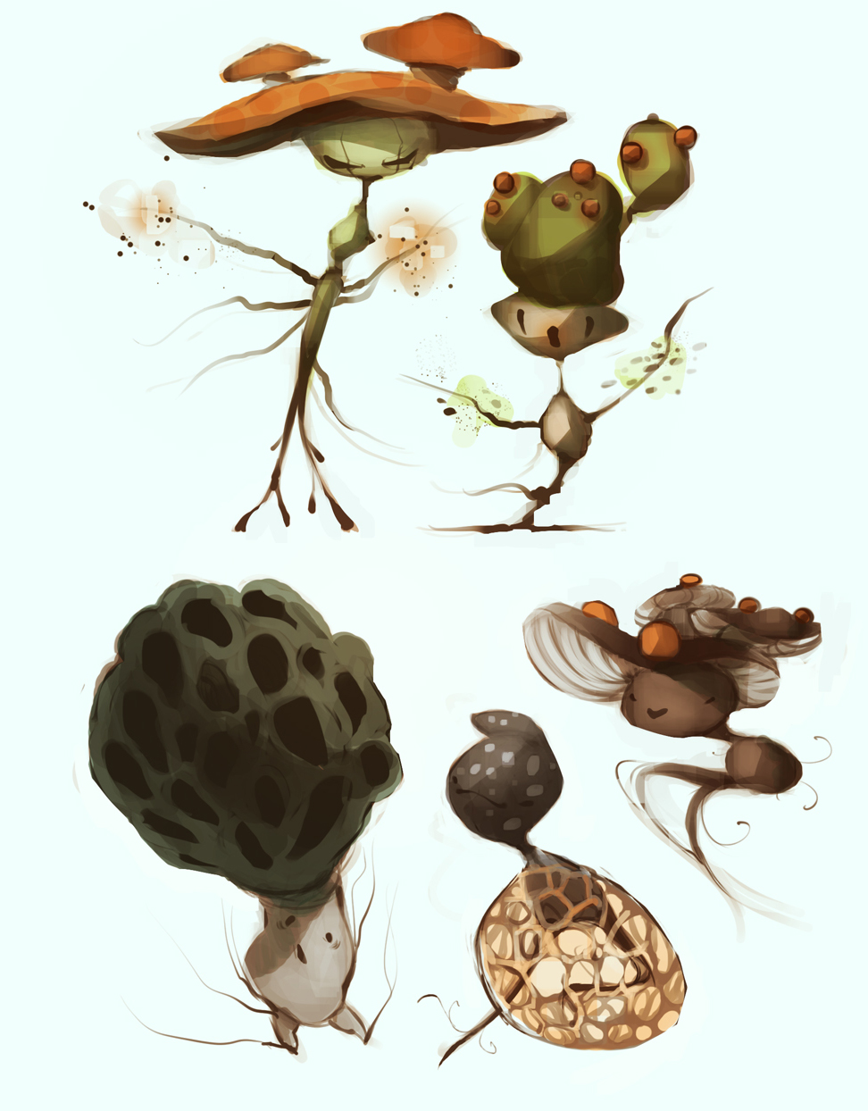Mushroom fairies by coconutmilkyway on deviantart for Fairy on a mushroom drawing