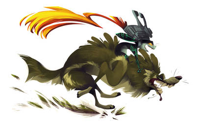 Link and Midna by CoconutMilkyway