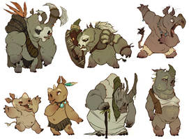 whole bunch o rhinos