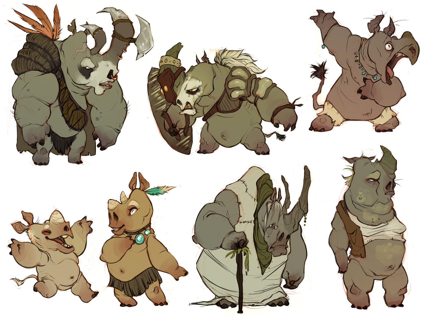 whole bunch o rhinos by CoconutMilkyway
