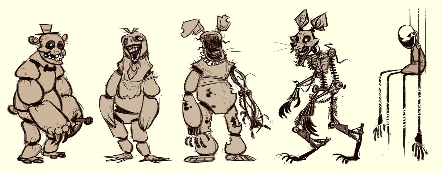 five nights at freddys friends by CoconutMilkyway
