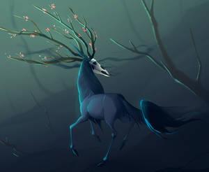 Old OC frolicking thru a misty woods