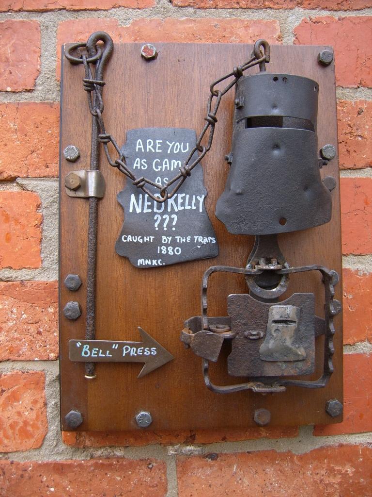 Ned Kelly door Bell by shirlmax ... & Ned Kelly door Bell by shirlmax on DeviantArt pezcame.com