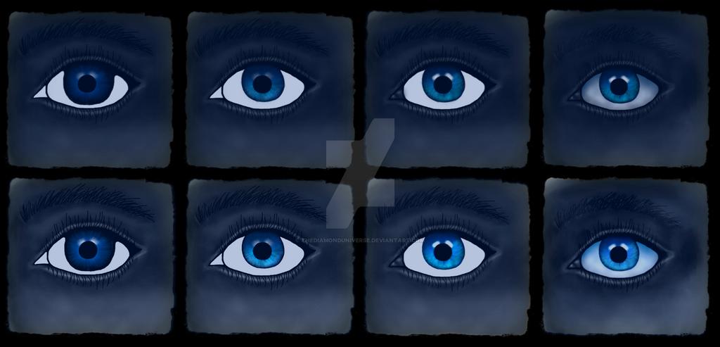 Digital Blue Eye Progress by TheDiamondUniverse