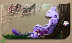 Mewtwo 3ds Top Case Cover by Haymurus