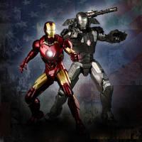 Iron Man and War Machine by zeebow14