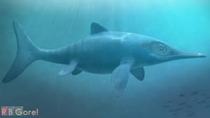 Ichthyosaur (Stenopterygius): Swim Cycle (V-Ray)