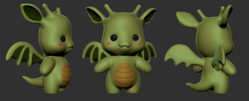 Sculpting A Cartoon Dragon: ZBrush For Beginners by zeebow14