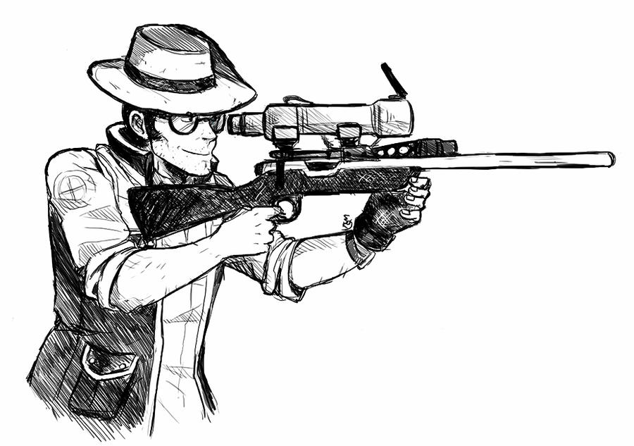 sniper coloring pages - photo#32
