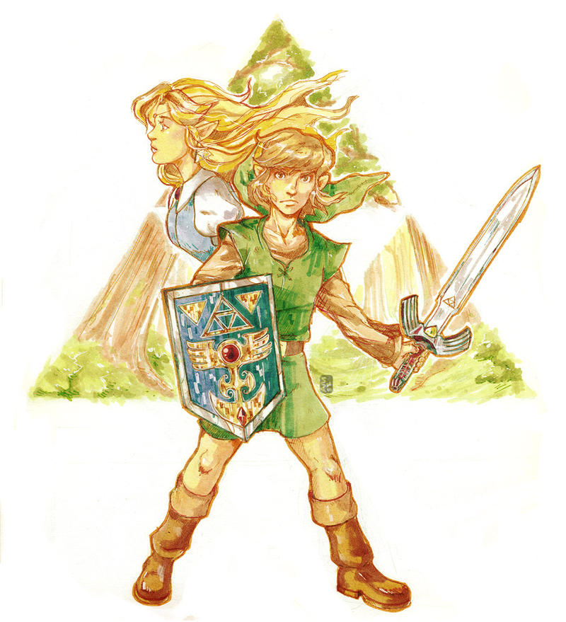 -LoZ: a link to the past- by kichisu