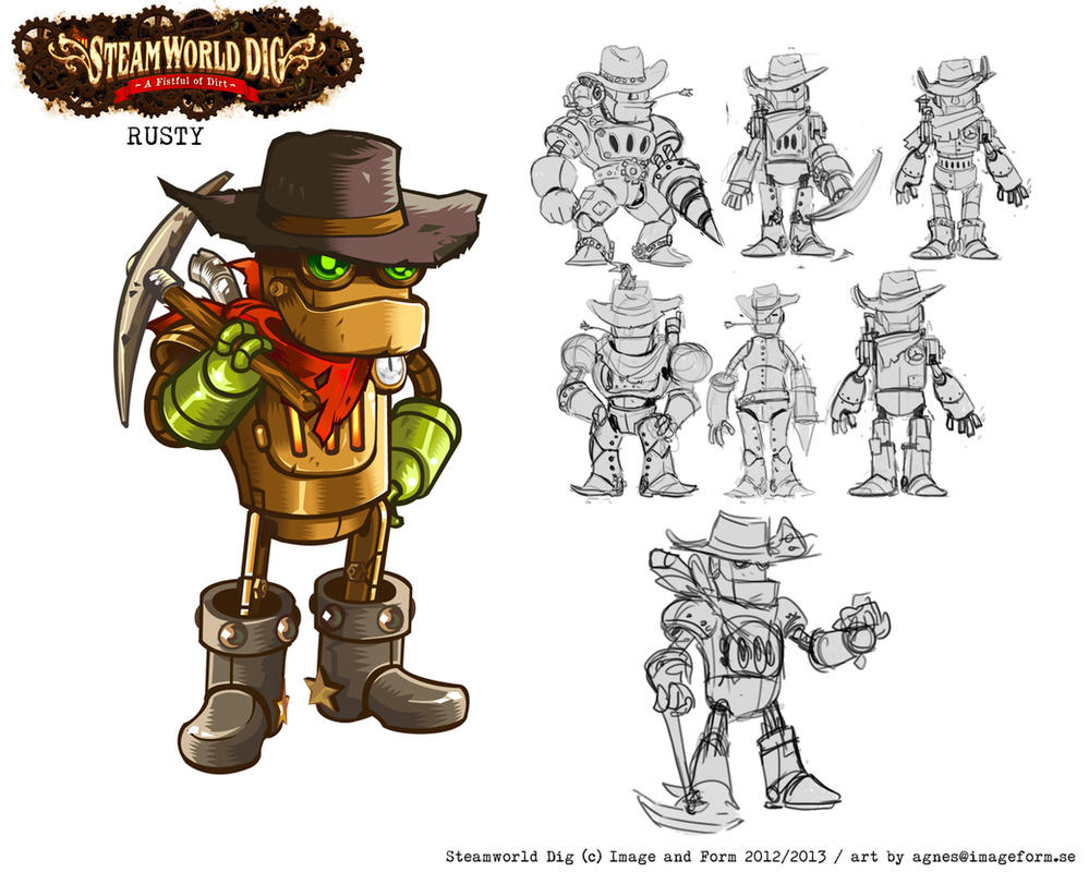 Steamworld Dig Rusty by kichisu