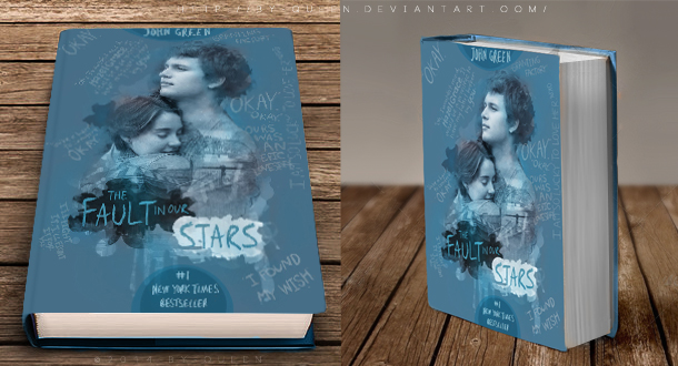 Book cover The fault in our stars by By-Queen on DeviantArt
