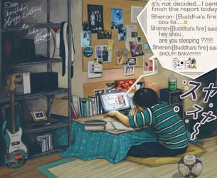 are you sleepin' BAKA by Master-Sheron
