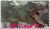 Stamp - I love t-rex by Carolzilla